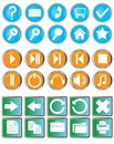A set of buttons with symbols Royalty Free Stock Photos