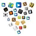set buttons variety global communicate elements Royalty Free Stock Photo