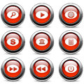 Set of buttons on a white background Stock Photo