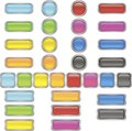 A set of buttons1 Royalty Free Stock Image