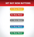 Set Buy Now Buttons Stock Images