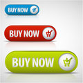Set of buy now buttons Royalty Free Stock Photo