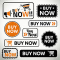 Set of buy now buttons for websites and print quality Royalty Free Stock Photo