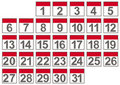 Set of calendar files Stock Images