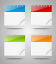 Set of calendar icons empty Royalty Free Stock Image