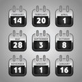 Set calendar web icons Royalty Free Stock Images