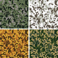 Set of camouflage seamless patterns Royalty Free Stock Photo