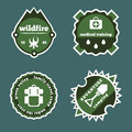 Set of camping and outdoor adventure stickers logo badges labels Royalty Free Stock Photo