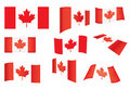 Set of Canada flags Stock Photo