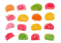 Set of candied fruit jelly Stock Photo