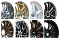 Set of Car alloy wheel Royalty Free Stock Photo