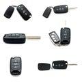 Set of car keys isolated Royalty Free Stock Photo