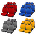 Set of car seats different colors Stock Photography