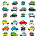 Set of car side and front view Royalty Free Stock Photo