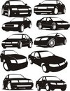 Set of car silhouettes Royalty Free Stock Photo