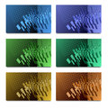 Set of card design business with abstract pattern Royalty Free Stock Images