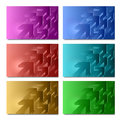 Set of card design business with abstract pattern Stock Image