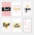 Set card Love lettering for poster