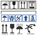 Set Cardboard  box symbols Stock Photography