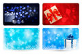 Set of cards with Christmas gift boxes Stock Image