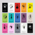 Set of cards with funny cats for your design Royalty Free Stock Photo