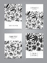 Set of cards with pattern of marijuana leaves