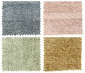 Set of carpet swatch texture samples Royalty Free Stock Photo
