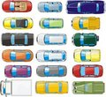 Set of  cars Royalty Free Stock Photo