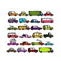 Set of cars collection for your design this is file eps format Stock Photography