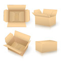 Set of carton boxes on white Royalty Free Stock Photo
