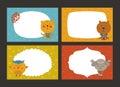 Set Of Cartoon Animal Borders