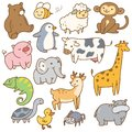 stock image of  Set of cartoon animals