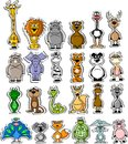 Set of cartoon animals,vector Stock Photo