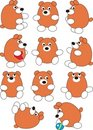 Set of cartoon baby bear Stock Photo