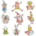 Set of cartoon characters Stock Image