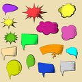 Set of Cartoon, Comic Speech Bubbles. Clouds with Halftone Dot in Pop Art Style. Vector Illustration for Comics Book
