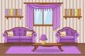 Set cartoon cushioned furniture, violet Living room
