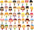 Set of cartoon cute children Stock Image