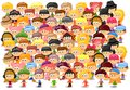 Set of cartoon cute children,vector Royalty Free Stock Images
