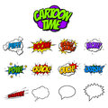 Set of Cartoon Effects Onomatopoeia Royalty Free Stock Photo