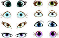 Set of cartoon eyes with different expressions Stock Photography