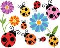 Cartoon Ladybug Clipart Royalty Free Stock Photo