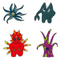 Set of cartoon monsters Royalty Free Stock Photo