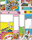 Set of Cartoon Pop Art Style Banners Sizes Stock Photography