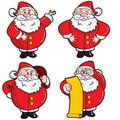 Set of Cartoon Santa Stock Images