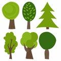 Set Of Cartoon Trees. Vector I...