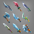 Set of cartoon weapons. Royalty Free Stock Photo