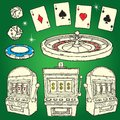 Set of Casino icons Royalty Free Stock Photography