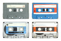 Set of cassette tape isolated Royalty Free Stock Images