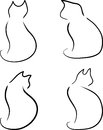 Set of cats vector illustration Stock Images